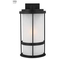 Sea Gull 8790901-12 Wilburn 1 Light 20 inch Black Outdoor Wall Lantern