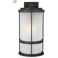 Sea Gull 8790901-71 Wilburn 1 Light 20 inch Antique Bronze Outdoor Wall Lantern
