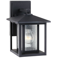 Sea Gull 88025-12 Hunnington 1 Light 11 inch Black Outdoor Wall Lantern