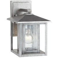 Sea Gull 88025-57 Hunnington 1 Light 11 inch Weathered Pewter Outdoor Wall Lantern