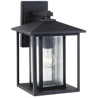 Sea Gull 88027-12 Hunnington 1 Light 14 inch Black Outdoor Wall Lantern