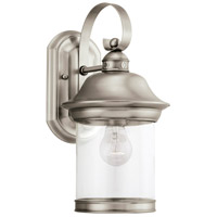 Sea Gull 88081-965 Hermitage 1 Light 14 inch Antique Brushed Nickel Outdoor Wall Lantern in Not Darksky Compliant