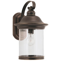 Sea Gull 88082-71 Hermitage 1 Light 15 inch Antique Bronze Outdoor Wall Lantern
