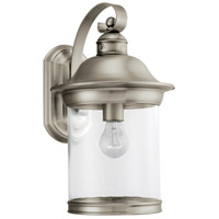 Hermitage 1 Light 15 inch Antique Brushed Nickel Outdoor Wall Lantern