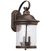 Sea Gull 88083-71 Hermitage 3 Light 20 inch Antique Bronze Outdoor Wall Lantern