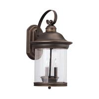 Sea Gull 88083EN-71 Hermitage 3 Light 21 inch Antique Bronze Outdoor Wall Lantern