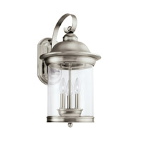 Hermitage 3 Light 21 inch Antique Brushed Nickel Outdoor Wall Lantern