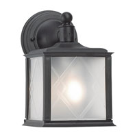 Sea Gull Lighting Harbor Point 1 Light Outdoor Wall Lantern in Black 88098-12