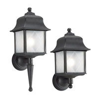 Sea Gull Lighting Harbor Point 1 Light Outdoor Wall Lantern in Black 88103-12 photo thumbnail