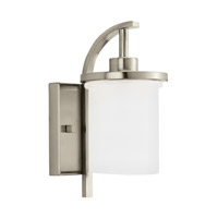 Eternity 1 Light 12 inch Brushed Nickel Outdoor Wall Lantern