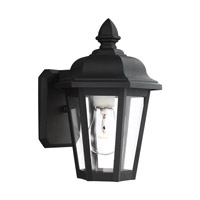 Sea Gull Lighting Bancroft 1 Light Outdoor Wall Lantern in Black 8812-12