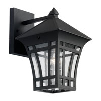 Sea Gull 88132-12 Herrington 1 Light 12 inch Black Outdoor Wall Lantern