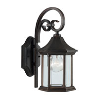 Sea Gull Lighting Ardsley Court 1 Light Outdoor Wall Lantern in Textured Rust Patina 88136-08