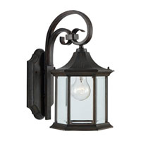 Sea Gull Lighting Ardsley Court 1 Light Outdoor Wall Lantern in Textured Rust Patina 88137-08