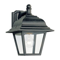 Sea Gull Lighting Bancroft 1 Light Outdoor Wall Lantern in Black 8816-12 photo thumbnail