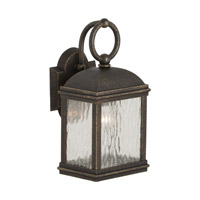 Sea Gull 88190-802 Branford 1 Light 14 inch Obsidian Mist Outdoor Wall Lantern