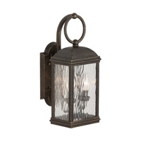 Sea Gull Lighting Branford 2 Light Outdoor Wall Lantern in Obsidian Mist 88191-802