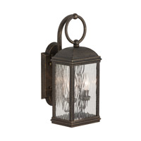 Branford 2 Light 18 inch Obsidian Mist Outdoor Wall Lantern