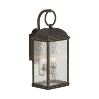 Sea Gull 88192-802 Branford 2 Light 23 inch Obsidian Mist Outdoor Wall Lantern