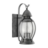 Sea Gull Lighting Kingston 3 Light Outdoor Wall Lantern in Stardust 88197-846
