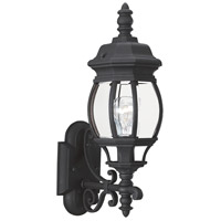 Sea Gull 88200-12 Wynfield 1 Light 20 inch Black Outdoor Wall Lantern