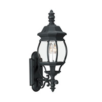 Sea Gull 88201EN-12 Wynfield 2 Light 24 inch Black Outdoor Wall Lantern