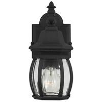 Sea Gull 88203-12 Wynfield 1 Light 11 inch Black Outdoor Wall Lantern