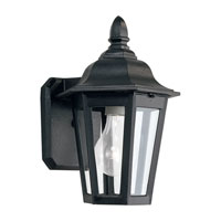 Sea Gull Lighting Brentwood 1 Light Outdoor Wall Lantern in Black 8822-12 photo thumbnail