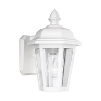 Sea Gull Lighting Brentwood 1 Light Outdoor Wall Lantern in White 8822-15