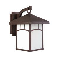 Sea Gull Lighting Ashville 1 Light Outdoor Wall Lantern in Cottage Bronze 88231-833