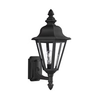 Sea Gull Lighting Brentwood 1 Light Outdoor Wall Lantern in Black 8824-12