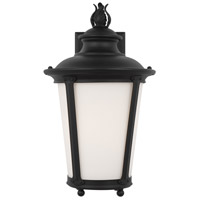 Sea Gull 88241-12 Cape May 1 Light 16 inch Black Outdoor Wall Lantern
