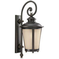 Sea Gull Lighting Cape May 1 Light Outdoor Wall Lantern in Burled Iron 88242-780