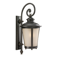 Sea Gull 8824291S-780 Cape May LED 26 inch Burled Iron Outdoor Wall Lantern photo thumbnail