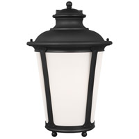 Sea Gull 88244-12 Cape May 1 Light 20 inch Black Outdoor Wall Lantern