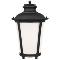 Sea Gull 88244EN3-12 Cape May 1 Light 20 inch Black Outdoor Wall Lantern
