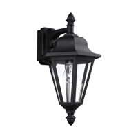 Sea Gull 8825-12 Brentwood 1 Light 18 inch Black Outdoor Wall Lantern in Standard