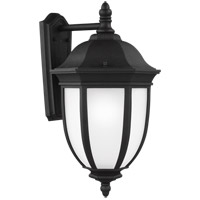 Sea Gull 8829301-12 Galvyn 1 Light 23 inch Black Outdoor Wall Lantern