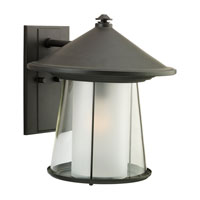 Sea Gull Lighting Strathmore 1 Light Outdoor Wall Lantern in Cottage Bronze 88322-833