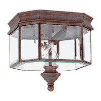 Sea Gull Lighting Hill Gate 2 Light Outdoor Wall Lantern in Textured Rust Patina 8834-08