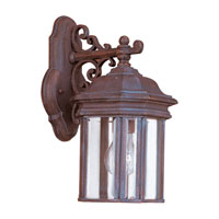 Sea Gull Lighting Hill Gate 1 Light Outdoor Wall Lantern in Textured Rust Patina 8835-08 photo thumbnail