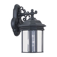 Sea Gull Lighting Hill Gate 1 Light Outdoor Wall Lantern in Black 8835-12