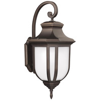 Childress 2 Light 36 inch Antique Bronze Outdoor Wall Lantern in Fluorescent