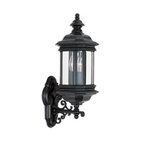 Hill Gate 2 Light 20 inch Black Outdoor Wall Lantern
