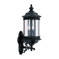 Sea Gull 8839-12 Hill Gate 3 Light 26 inch Black Outdoor Wall Lantern