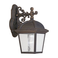 Sea Gull Lighting Charleston 1 Light Outdoor Wall Lantern in Gold Patina 8843-85