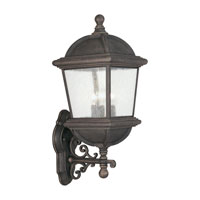 Sea Gull Lighting Charleston 3 Light Outdoor Wall Lantern in Gold Patina 8845-85