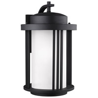 Sea Gull 8847901-12 Crowell 1 Light 20 inch Black Outdoor Wall Lantern