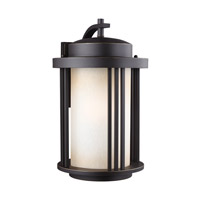 Crowell 1 Light 20 inch Antique Bronze Outdoor Wall Lantern in Fluorescent