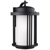 Sea Gull 8847901DEN3-12 Crowell 1 Light 20 inch Black Outdoor Wall Lantern